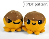 Takoyaki (Octopus Ball) Plush .pdf Sewing Pattern