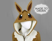 Eevee Pokemon Costume Hoodie - Made to Order