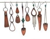 Single Earring, Earring A Day #214-221/365: Copper and Silver Dangle Earrings, Asymmetric Earrings, Oxidized Mixed Metal Jewelry