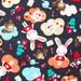 Cotton fabric, kids fabric, bunny fabric, animal fabric, Dutch fabric, Bunny Tea Time fabric, cute fabric