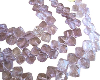 Pink Amethyst Beads Briolettes, Diamond Briolettes, 7-8mm, Pink Gemstone Beads, February Birthstone, SKU 431
