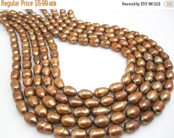 SALE Freshwater Pearl Beads,  Brown Pearls, Potato Shape, SKU 4644
