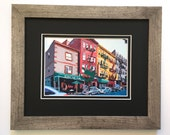 Framed NYC Art, The Bronx Arthur Avenue Rustic Wood, 5x7 Framed Print, Double Mat by Gwen Meyerson