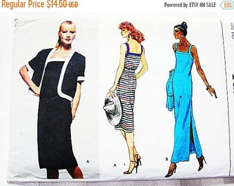 on SALE Vogue Pattern Women Dress Pattern Misses size 10 UNCUT 2 lengths Sundress, Evening Length Dress with Jacket Sewing Pattern