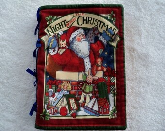 Childrens Fabric Book The Night Before Christmas Holiday Christmas Gifts Handmade