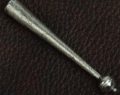 Bolo tip zinc cast and plated silver antique , sold 2 each 15306