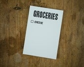 Grocery List / Cheese