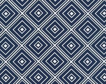 Navy Diamond Robert Kaufman SRK-15082-9 Fabric by the Yard