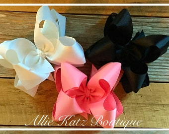 Ballerina Double Stack XLarge boutique hair Bow set summer brights