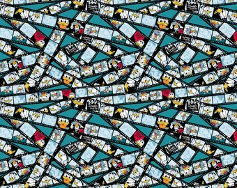 Donald Duck Film Strip Cotton Woven fabric by the yard sewing quilting SC-16005