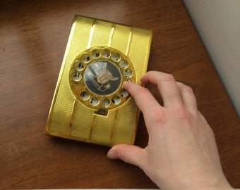 Rotary telephone dial Address book