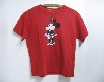 Vintage Minnie Mouse Disney T-Shirt Disneyland Tourist Souvenir Travel Shirt