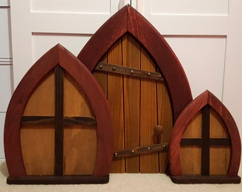 Hand-Crafted Fairy - Gnome Window (Small)