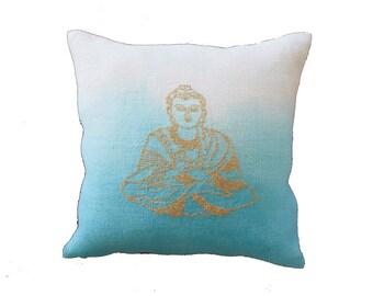 Needlepoint pattern BUDDHA-boho,moroccan,embroidery pattern,needlepoint pillow,cross stitch pattern,cross stitch,anette eriksson,turquoise