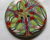 Extra Large Moroccan Kaleidoscope Button No. 39