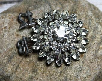 Vintage RHINESTONE Trinket- Novelty Brooch with Numbers- Diamond Glam Jewel