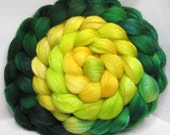 Organic Polwarth/Bombyx 80/20 Roving Combed Top 5oz - Orion Cloud Nebula 1 - OoaK