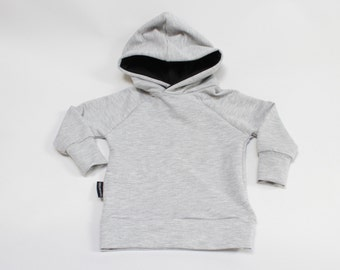 Heather Grey / Black Bamboo Pullover Hoodie