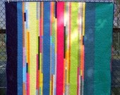 Very Modern Crazy Stripe Quilt