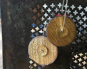 Spinning Disk Earrings