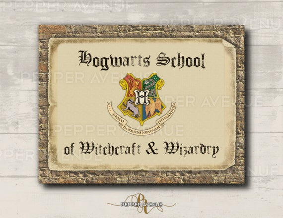 Impertinent image with regard to hogwarts sign printable
