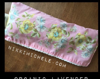 Organic Lavender Hippie Eye Pillow Vintage Meditation Quiet Time Yoga Massage