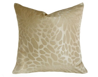 Contemporary Cream Pillow Covers, Neutral Throw Pillows, Two Tone Beige Cream Cushions, Modern Abstract, Cobblestone Dots Spots, 18x18 SALE