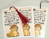 Getting 10 Humorous Bookmarks design,printed and laminated, eyelet added package then mailed~ Buy 2 get 1 free gift
