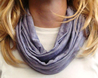 Purple Heather Jersey Knit Infinity Scarf - Lavender Circle Scarf - Handmade Loop Scarf