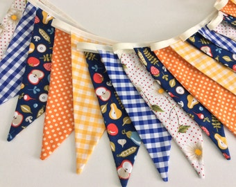 30% off SALE Thanksgiving bunting garland, 18 flags 12ft or 4m long also great as autumn bunting, fall bunting 14 flags