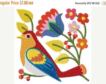 SALE 65% off Jacobean Birds and Flowers Machine Embroidery Designs Instant Download Sale