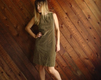 Golden Apple Vintage 60s Sleeveless Velvet Mini Shift Dress - SMALL 2 4