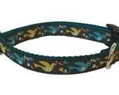 Pretty Doves Dog Collar -  Small Dog Bird Collar Martingale Leash Harness