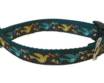 Pretty Doves Dog Collar Buckle or Martingale