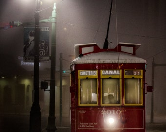 Early Morning Trolley - New Orleans - Travel Photography