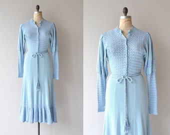 Altostratus dress | vintage 1970s knit dress | 70s sweater dress