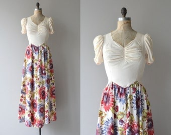 Floral Fireworks dress | vintage 1930s dress | long 1930s dress