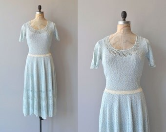 Bayern knit dress | vintage 1940s dress | 40s knit dress