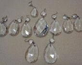 Crystal Chandelier Lamp Prisms 10 Antique