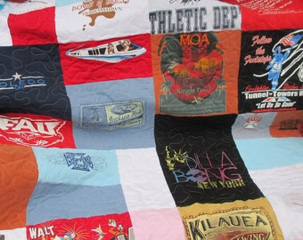Tee Shirt Quilt , Memory Quilt , Deposit Only
