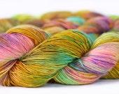 Bronzed Butterfly 438 yards on 'Lustre' Single Base/ Hight Twist Fingering Sock Yarn, Merino & Silk