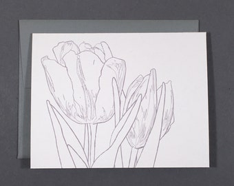 Tulip Coloring Card
