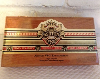 Wooden Cigar Box Purse Groomsmen Gift