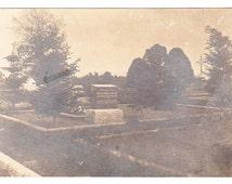 RPPC vintage photo Postcard Cemetery Headstone 1910s Grave