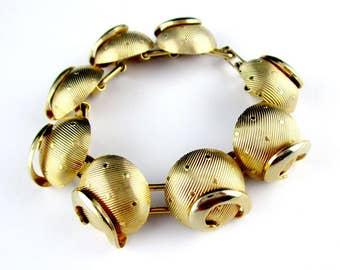 Bracelet Retro Gold tone Dome Celestial