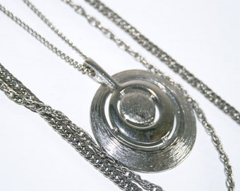 Three Strand Silver Chain Necklace