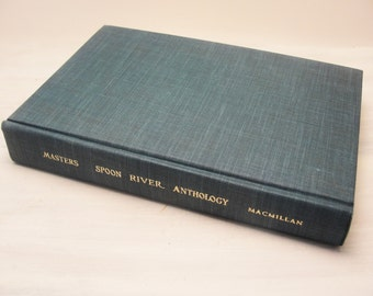 Masters Spoon River Anthology Book of Poetry 1967 Hardback