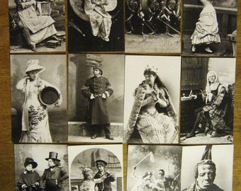 Gilbert & Sullivan Vintage Postcards - Reproductions - Set of 12