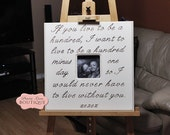 Wedding Picture Frame 20 x 20 If You Live To Be A Hundred Anniversary Love Winnie The Pooh Nursery Art New Baby Children