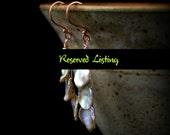 No.4 Triple Stacked Keishi Petals, Keishi Petal Earrings,  RESERVED LISTING, House of Tor, houseoftor